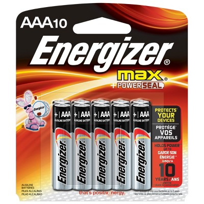 Energizer Max AAA Batteries 10 ct