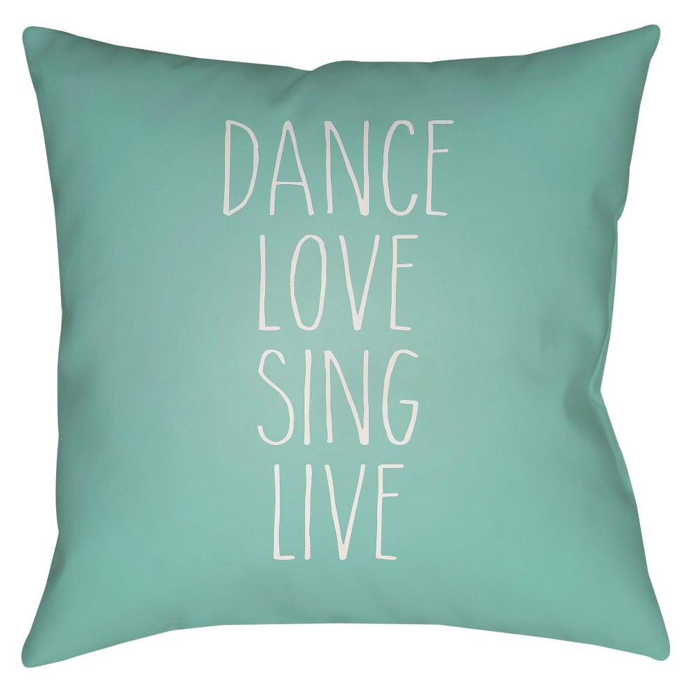 Teal (Blue) Inspire Throw Pillow 18
