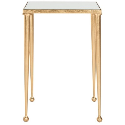 Nyacko End Table - Gold / Mirror - Safavieh