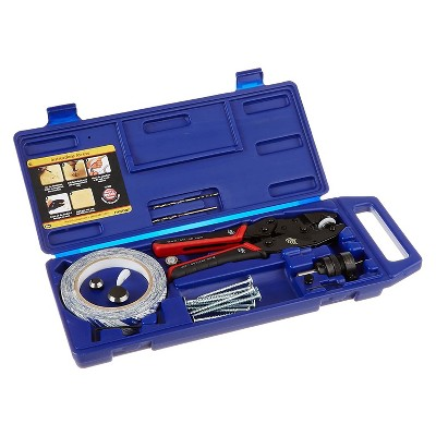 FastCap Woodworking Custom Color Hole Punch Tool Kit with SpeedTape, 3 Dies, PowerHead Screws, Flush Mount Drill Bit System, and Hard Shell Case, Blue
