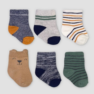 Baby Boys' 6pk Striped Socks - Just One You® made by carter's