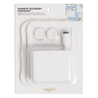 U Brands Magnetic Modern Scallop Accessory Locker Kit - White