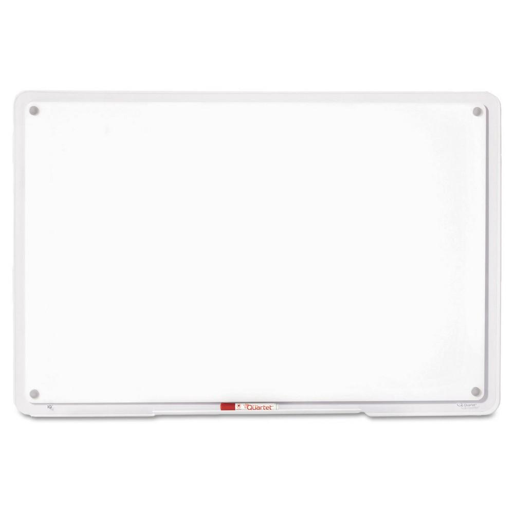 Quartet 36 x 23 iQTotal Erase Board- White (Translucent Frame)
