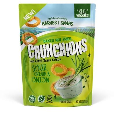Harvest Snaps Crunchions Sour Cream & Onion - 2.5oz
