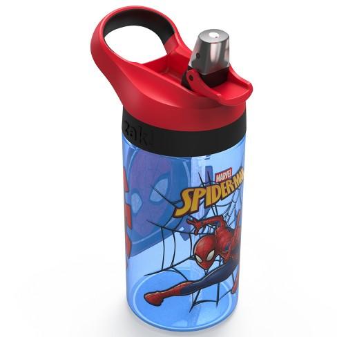 Marvel Spider-Man 16oz Plastic Water Bottle Blue/Red - Zak Designs - image 1 of 3