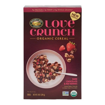 Nature's Path Love Crunch Dark Chocolate & Red Berries Organic Breakfast Cereal - 10oz