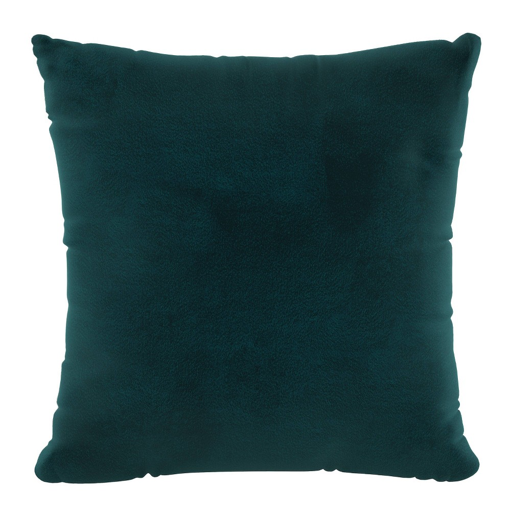 """Image of """"18""""""""x18"""""""" Polyester Fill Pillow with Welt in Velvet Baylon - Cloth & Company"""""""