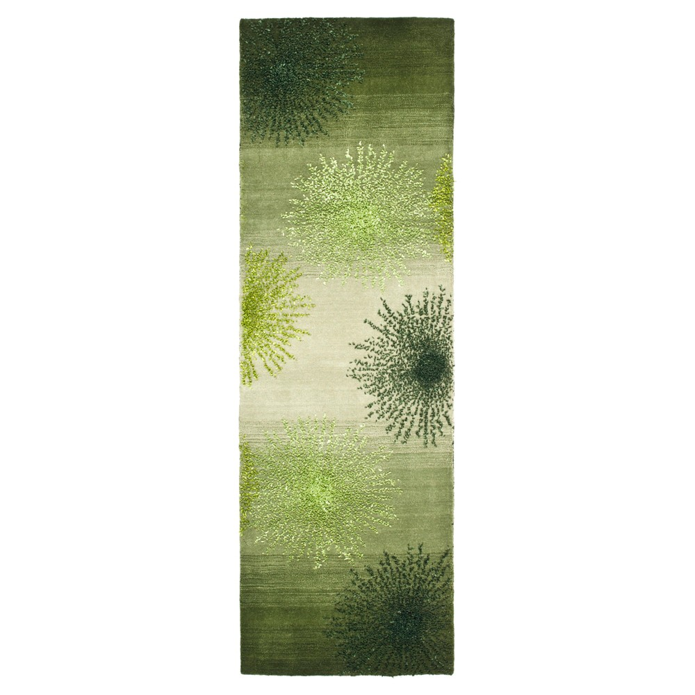 Amsterdam Runner - Green / Multi (2'6 X 10' ) - Safavieh