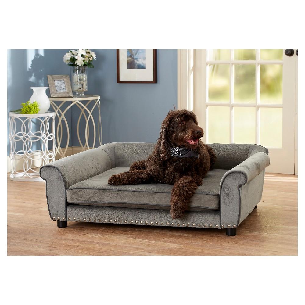 Enchanted Home Pet Outlaw Pet Sofa - Grey, Gray