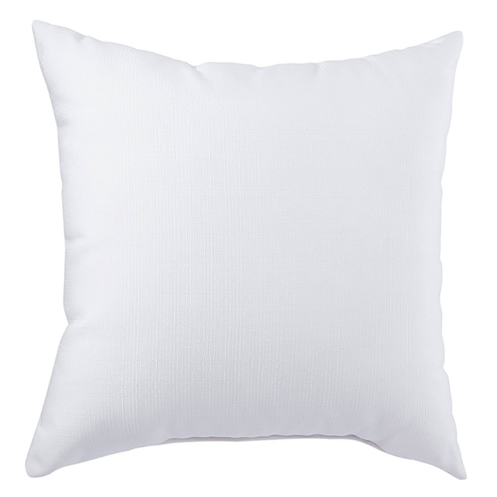 "Image of ""17"""" Solid Isle Indoor/Outdoor Throw Pillow White - Jaipur Living"""