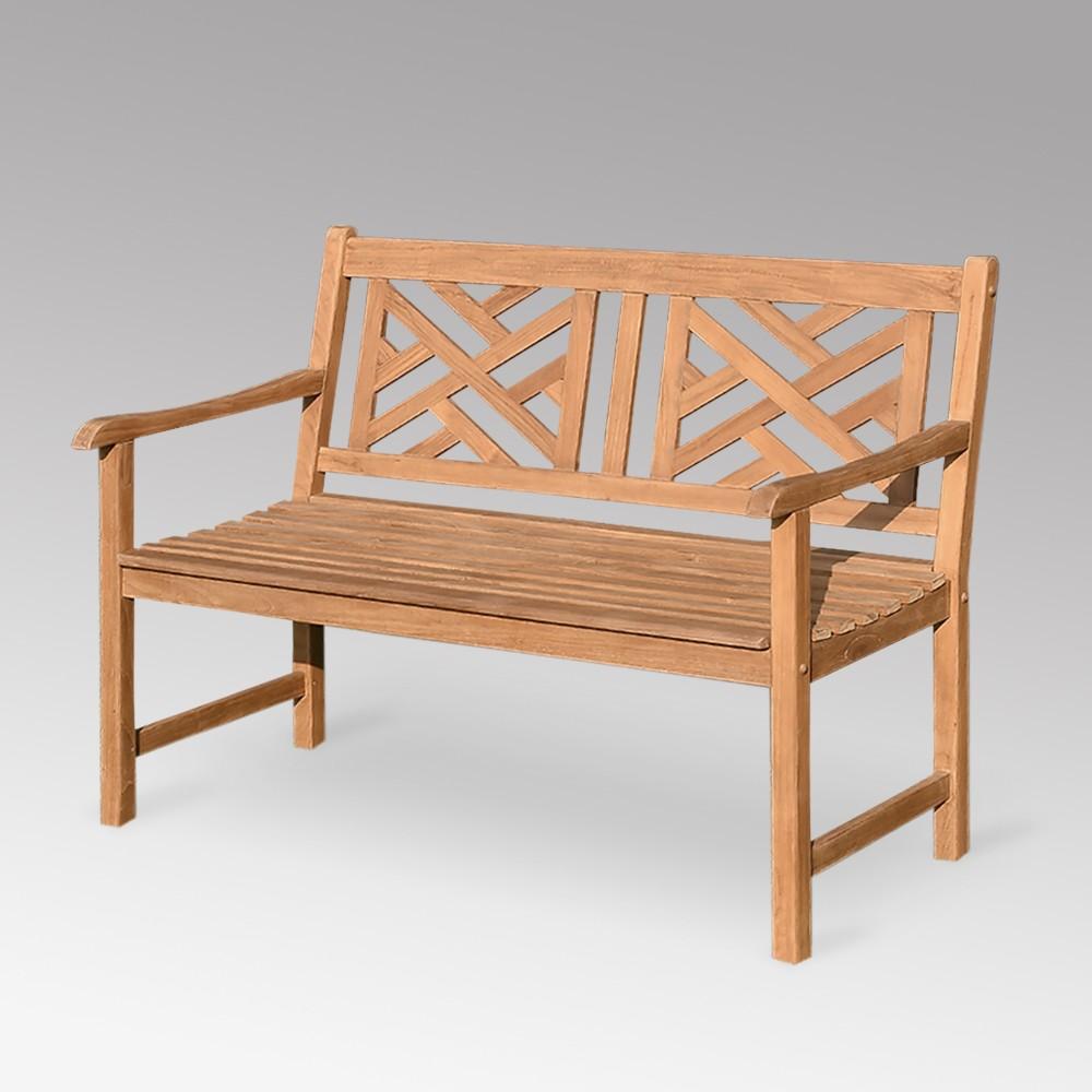Isla Teak Patio Garden Bench - Cambridge Casual, Brown