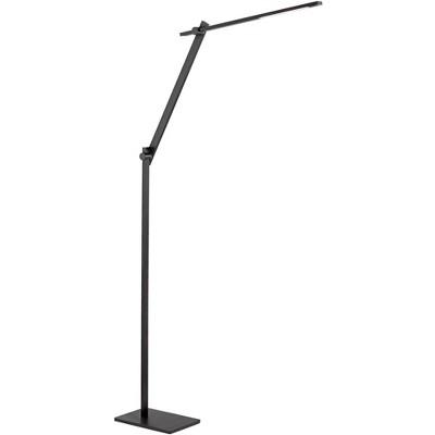 Possini Euro Design Modern Floor Lamp LED Adjustable Anodized Black Metal Touch On Off for Living Room Reading Bedroom Office