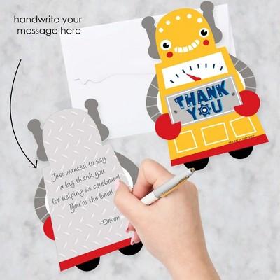 set of 12 Robot Thank You Cards