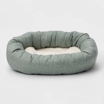 Rectangular Cuddler Faux Linen Dog Bed - S - Boots & Barkley™