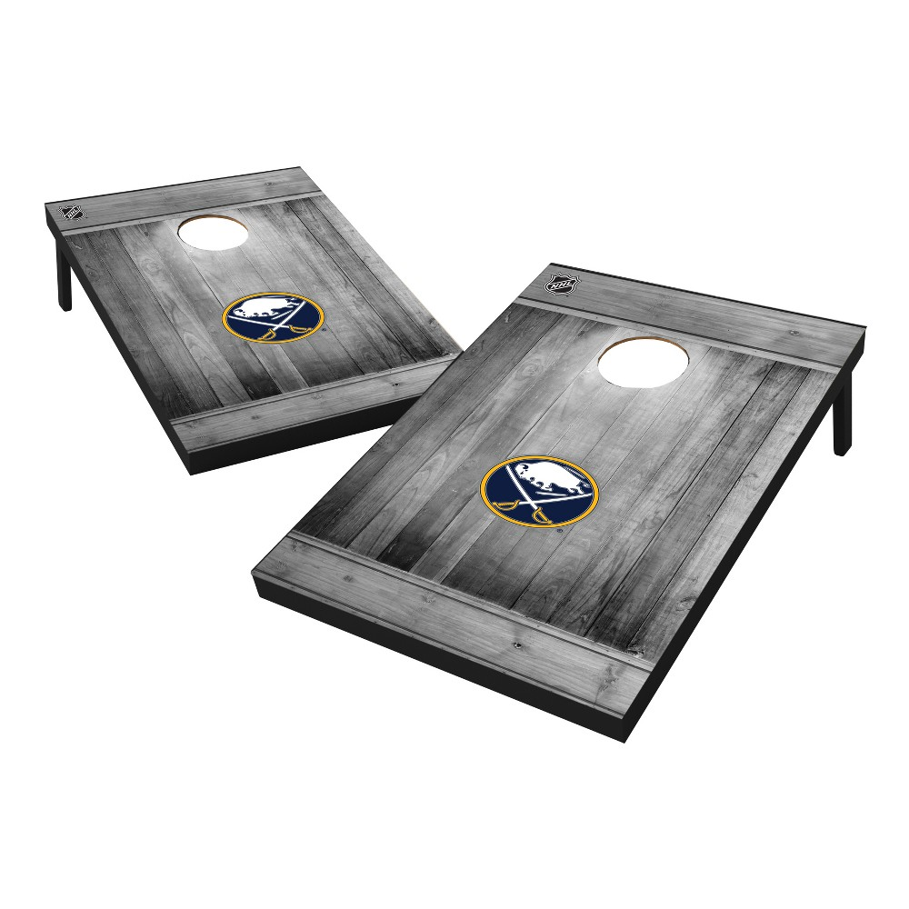 Buffalo Sabres Wild Sports 2x3 Rustic Wooden Plaque Gray Wash Tailgate Toss