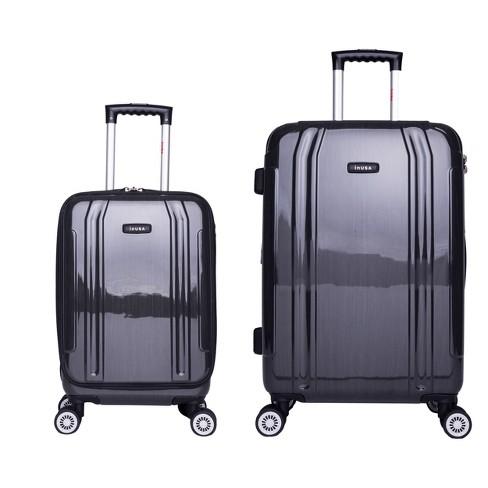 InUSA SouthWorld 2pc Hardside Spinner Luggage Set - Dark Gray Brush - image 1 of 4