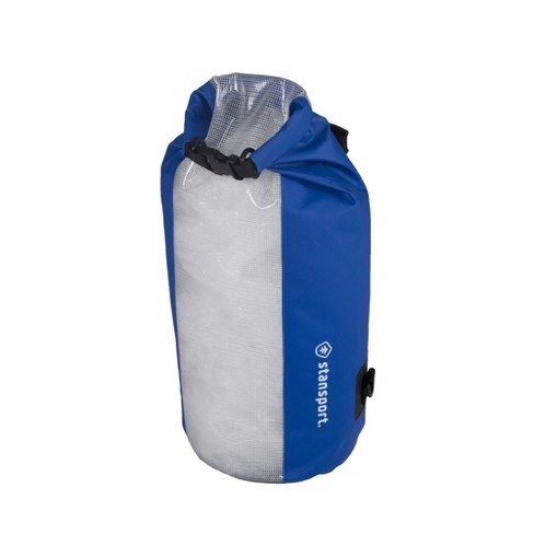 Stansport Waterproof Dry Gear Bag With Clear Front Panel 20L Blue - image 1 of 4