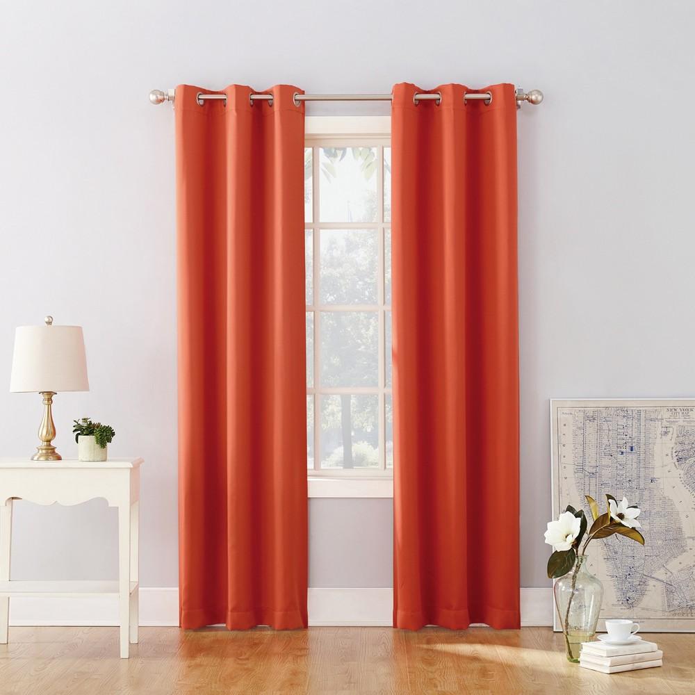 95 34 X40 34 Riley Kids 39 Bedroom Blackout Grommet Top Curtain Panel Orange Sun Zero