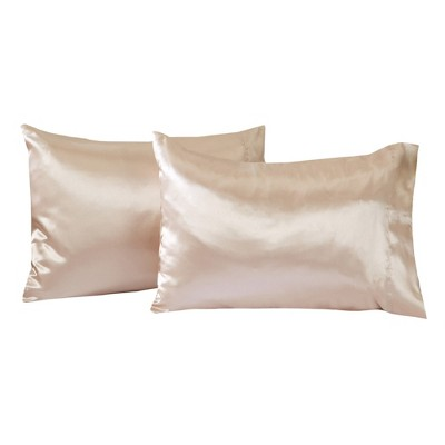 Great Bay Home 2 Pack Microfiber Satin Weave Pillowcases