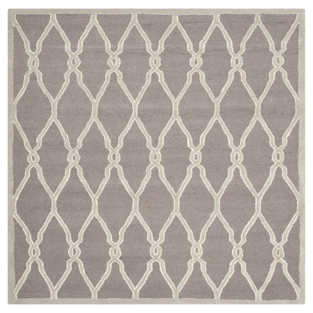 Safavieh Orli Area Rug - Dark Grey / Ivory ( 6' X 6' ), Dark Gray/Ivory