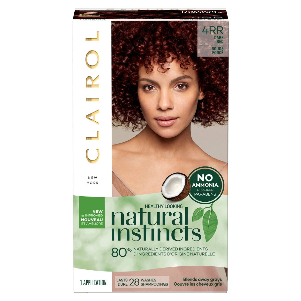 Image of Natural Instincts Clairol Semi-Permanent Hair Color - 4RR Dark Red - 1 Kit, 4RR - Dark Red