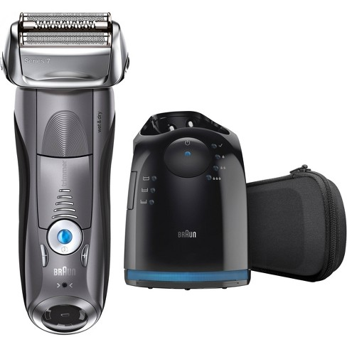 Braun Series 7 Men's Rechargeable Wet & Dry Cordless Electric Foil Shaver with Clean & Charge Station7865cc - image 1 of 4