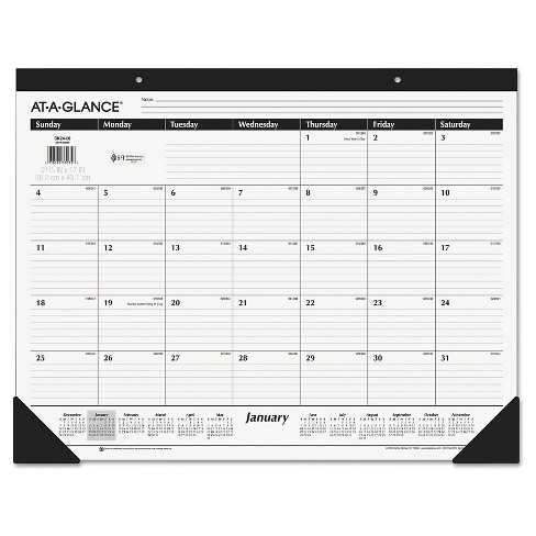 AT-A-GLANCE® Ruled Desk Pad, 22 x 17, 2017 - image 1 of 1