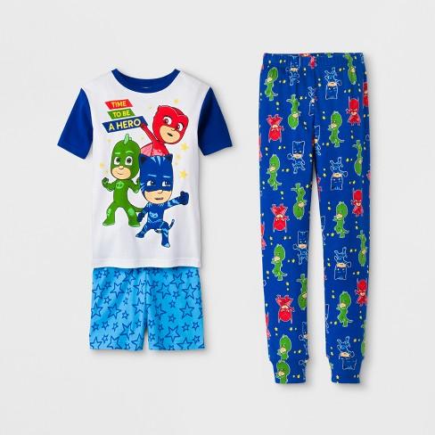 f27b334bc9c7 Boys  PJ Masks 3pc Pajama Set - White   Target
