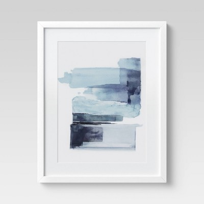 "16"" x 20"" Watercolor Brushstroke Abstract Blue - Project 62™"