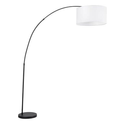 Salon Contemporary Floor Lamp White Shade with Black Base (Lamp Only) - Lumisource - image 1 of 2
