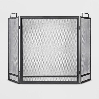 Fireplace Screen - Matte Black Finish - Threshold™