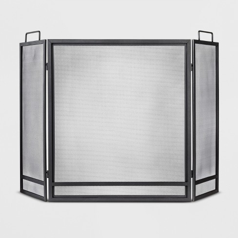 Fireplace Screen - Matte Black Finish - Threshold™ - image 1 of 1