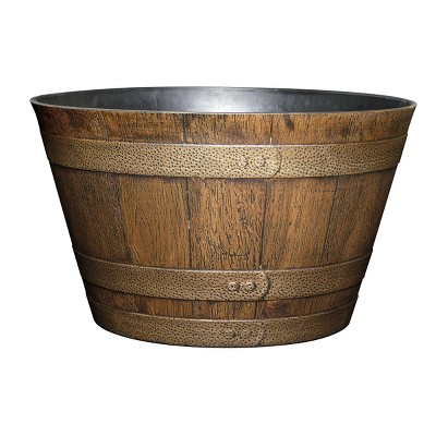 Set of 5 Whiskey Barrel Planter - Classic Home and Garden