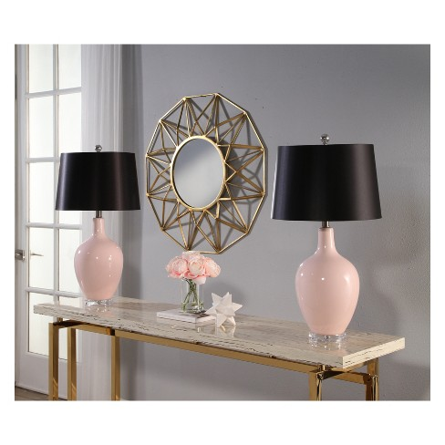 Set Of 2 Suzette Ceramic Table Lamps Pink Lamp Only Abbyson Living Target