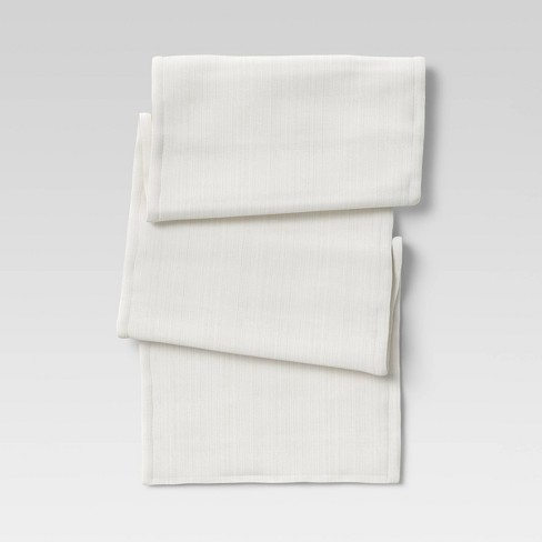 Cotton Solid Table Runner White - Threshold™ - image 1 of 3