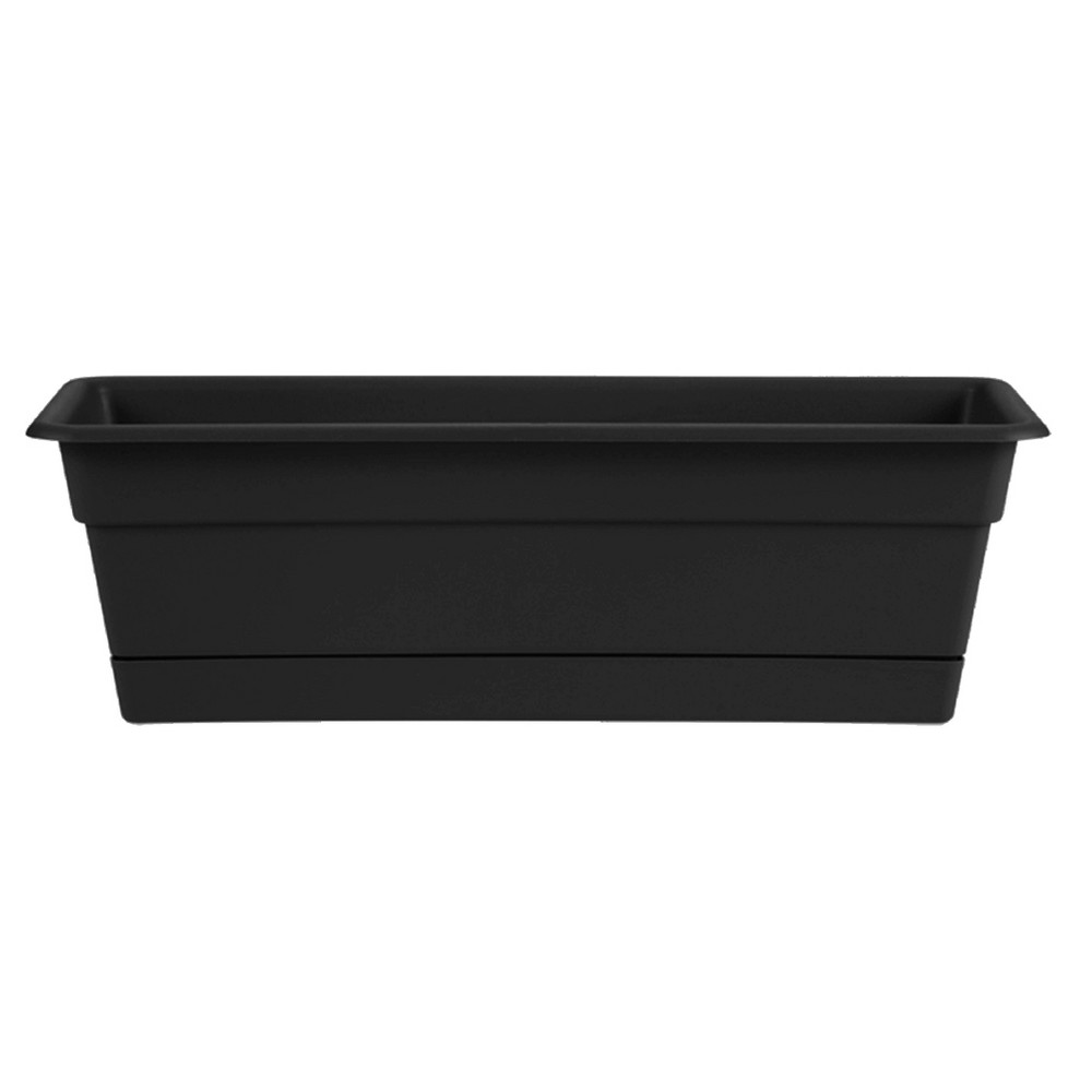 "Image of ""24"""" Novelty Dura Cotta Window Box - Black - Bloem"""