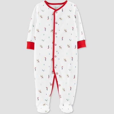 Baby's Christmas Print Sleep 'N Play - Little Planet by Carter's Cream Newborn