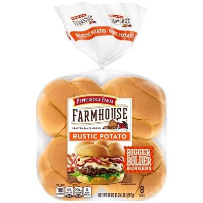 Pepperidge Farm Farmhouse Rustive Potato Hamburger Buns - 20oz/8ct