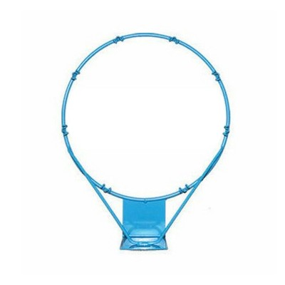 Dunn-Rite 13.5 Inch PoolSport Outdoor Stainless Steel Swimming Pool Backboard Replacement Basketball Hoop Rim for Adults and Kids, Light Blue