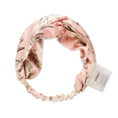 scunci Fashion Turban Headwrap - Pink Floral