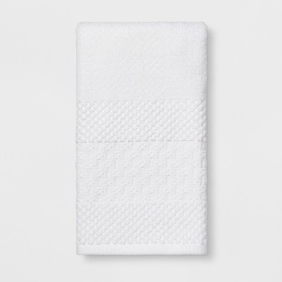 Textured Border Hand Towel Fresh White - Threshold™