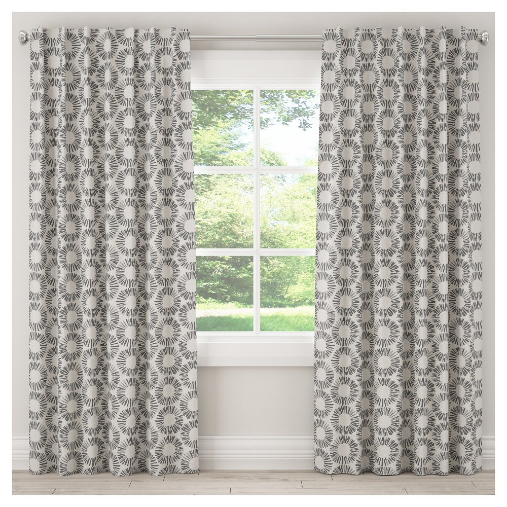Blackout Medallion Curtain Panel Gray (50