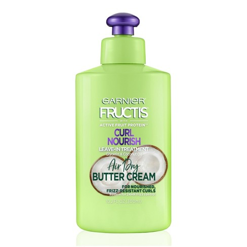 Garnier Fructis Triple Nutrition Curl Nourish Butter Cream leave-In Treatment - 10.2 fl oz - image 1 of 4