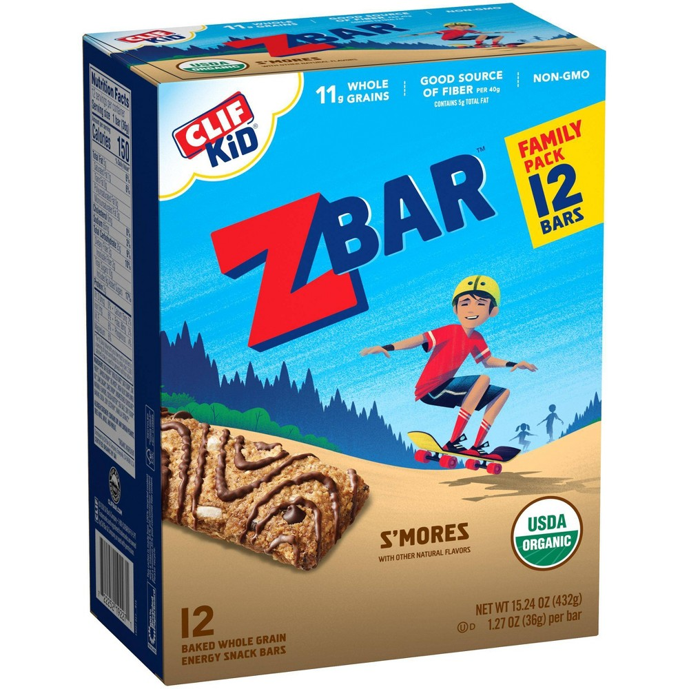Clif Kid Z Bar Organic S'Mores Energy Bars - 12ct