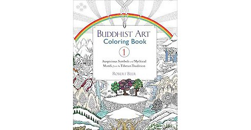 Buddhist Art Adult Coloring Book 1: Auspicious Symbols and Mythical Motifs from the Tibetan Tradition - image 1 of 1
