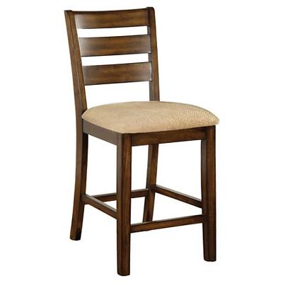Sun U0026 Pine Ladder Back Fabric Padded Counter Side Chair Wood/Antique Oak  (Set Of 2)