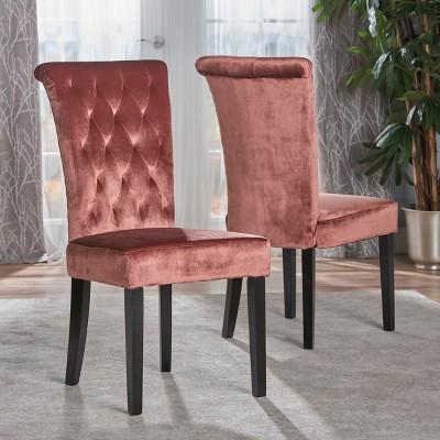 Set Of 2 Venetian New Velvet Tufted Dining Chair   Christopher Knight Home