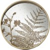 Dahlia Studios Fern Painted Gold and White Round Decorative Tray - image 4 of 4