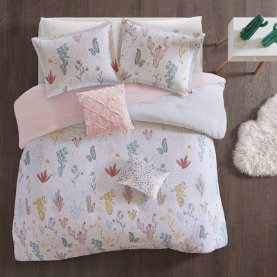 Flora Cotton Duvet Cover Set Red