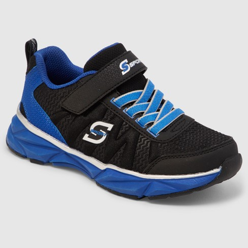 Boys' S Sport by Skechers Malaki Athletic Shoes - Black/Blue - image 1 of 5
